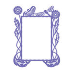 Couture Creations - Hearts Ease Collection - A2 Embossing Folder - Frame