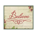 Couture Creations - Christmas Eve Collection - Designer Dies - Believe Flourish
