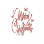 Couture Creations - Silent Night Collection - Christmas - Designer Dies - Merry Christmas Script