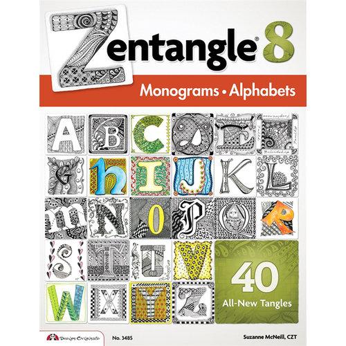Design Originals - Zentangle 8 Idea Book - Monograms Alphabets
