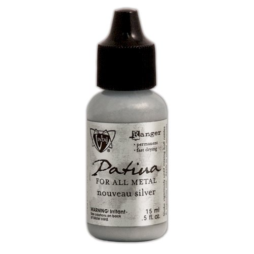 Ranger Ink - Vintaj - Patinas - Metallic Opaque Ink - Nouveau Silver - .5 ounces