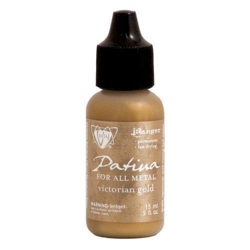Ranger Ink - Vintaj - Patinas - Metallic Opaque Ink - Victorian Gold - .5 ounces