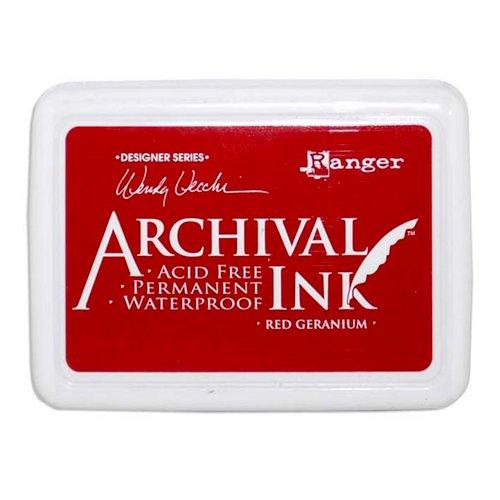 Ranger Ink - Wendy Vecchi - Archival Ink Pads - Red Geranium