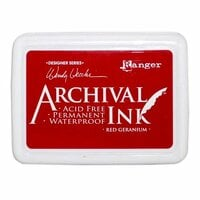 Ranger Ink - Wendy Vecchi - Archival Ink Pads - Red Geranium