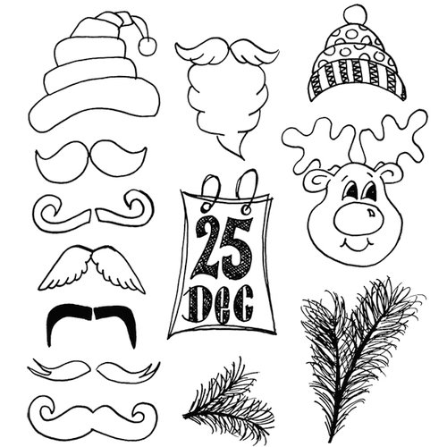Ranger Ink - Dylusions Stamps - Unmounted Rubber Stamps - Christmas Accessories
