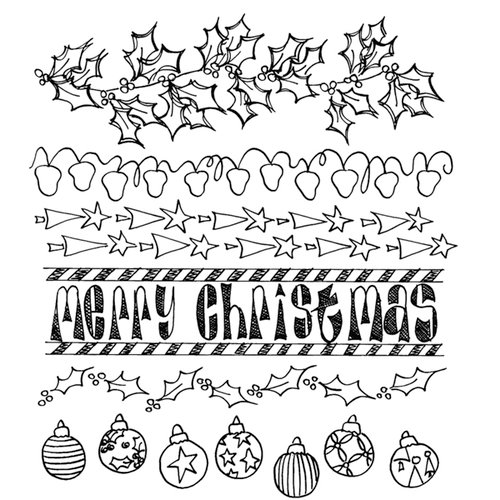 Ranger Ink - Dylusions Stamps - Unmounted Rubber Stamps - Christmas Borders