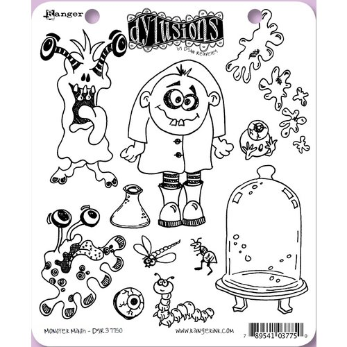 Ranger Ink - Dylusions Stamps - Unmounted Rubber Stamps - Monster Mash