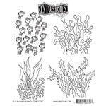 Ranger Ink - Dylusions Stamps - Unmounted Rubber Stamps - Ocean Backgrounds