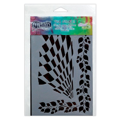 Ranger Ink - The Crafter's Workshop - 5 x 8 Doodling Template - Luscious Leaves