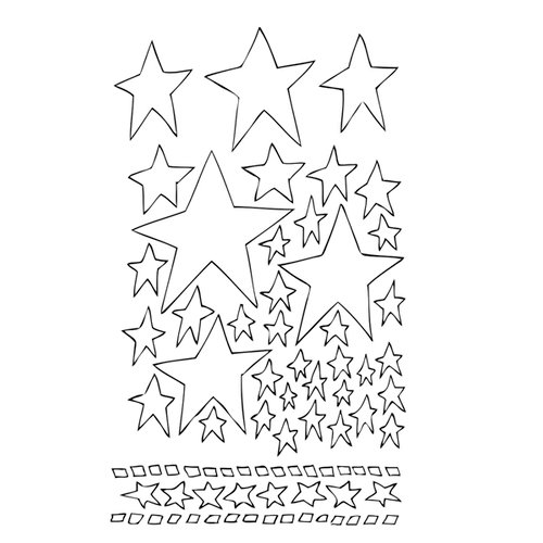 Ranger Ink - The Crafter's Workshop - 9 x 12 Dylusions Stencils - Starry Starry Night