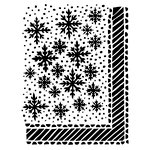 Ranger Ink - The Crafter's Workshop - 9 x 12 Dylusions Stencils - Let it Snow