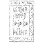 Ranger Ink - The Crafter's Workshop - 9 x 12 Dylusions Stencils - Ho Ho Holly