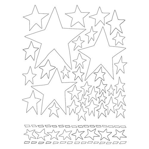 Ranger Ink - The Crafter's Workshop - 5 x 8 Dylusions Stencils - Starry Starry Night