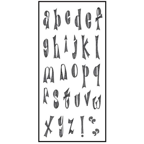 Ranger Ink - Dylusions - Clear Acrylic Stamps - Clearly Alpha