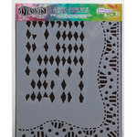 Ranger Ink - The Crafter's Workshop - 9 x 12 Doodling Template - Diamond Border