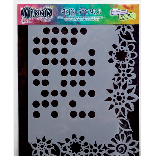 Ranger Ink - The Crafter's Workshop - 9 x 12 Doodling Template - Dotted Flowers