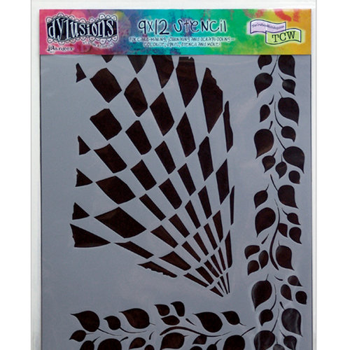Ranger Ink - The Crafter's Workshop - 9 x 12 Doodling Template - Luscious Leaves