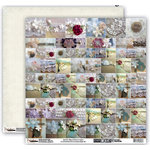 Donna Salazar - Memory Mosaics Collection - 12 x 12 Double Sided Paper - Mixed Media, CLEARANCE