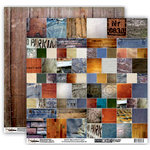 Donna Salazar - Memory Mosaics Collection - 12 x 12 Double Sided Paper - Textures, CLEARANCE