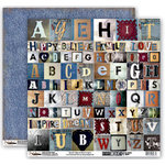 Donna Salazar - Memory Mosaics Collection - 12 x 12 Double Sided Paper - Alphas, CLEARANCE