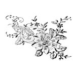 Donna Salazar - Kiss The Cook Collection - Cling Mounted Rubber Stamp - Flower in Lace, CLEARANCE