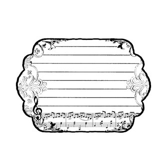 Donna Salazar - Compatibles Collection - Cling Mounted Rubber Stamp - A-note-ation, CLEARANCE