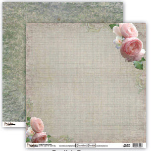 Donna Salazar - Grandma's Garden Collection - 12 x 12 Double Sided Paper - English Roses, CLEARANCE
