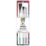 Ranger Ink - Dina Wakley Media - Stiff Bristle Paint Brush - Artist Quality Brush Set - 4 Pack
