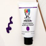 Ranger Ink - Dina Wakley Media - Heavy Body Acrylic Paint - Blackberry Violet