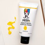 Ranger Ink - Dina Wakley Media - Heavy Body Acrylic Paint - Lemon