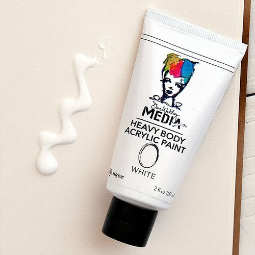 Ranger Ink - Dina Wakley Media - Heavy Body Acrylic Paint - White