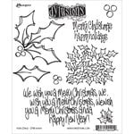 Ranger Ink - Dylusions Stamps - Christmas - Unmounted Rubber Stamps - Holly Days