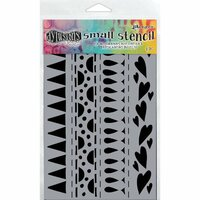 Ranger Ink - Dylusions Stencils - Heart Border - Small