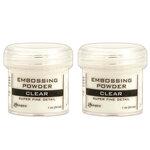 Ranger Ink - Basics Embossing Powder - Super Fine - Clear - 2 Pack