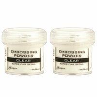 Ranger Ink - Basics Embossing Powder - Super Fine - Clear - 2 Pack