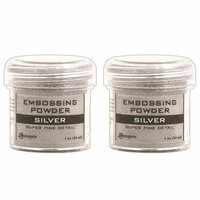 Ranger Ink - Basics Embossing Powder - Super Fine - Silver - 2 Pack