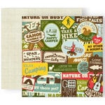 GCD Studios - The Great Outdoors Collection - 12 x 12 Double Sided Paper - Happy Camper