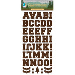 GCD Studios - The Great Outdoors Collection - Chipboard Stickers - Alphabet - Woodgrain