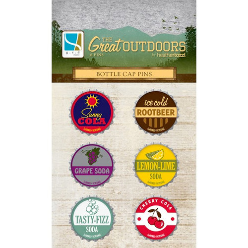 GCD Studios - The Great Outdoors Collection - Bottle Cap Pins