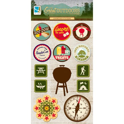 GCD Studios - The Great Outdoors Collection - Chipboard Stickers