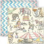 GCD Studios - Funhouse Collection - 12 x 12 Double Sided Paper - Under The Big Top