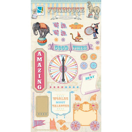 GCD Studios - Funhouse Collection - Chipboard Stickers - Shapes