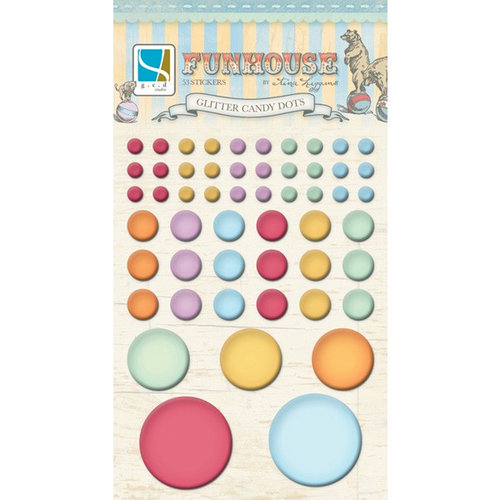 GCD Studios - Funhouse Collection - Self Adhesive Glitter Candy Dots