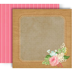 GCD Studios - Splendor Collection - 12 x 12 Double Sided Paper - Floral Frame