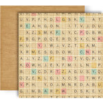 GCD Studios - Splendor Collection - 12 x 12 Double Sided Paper - Letter Tiles