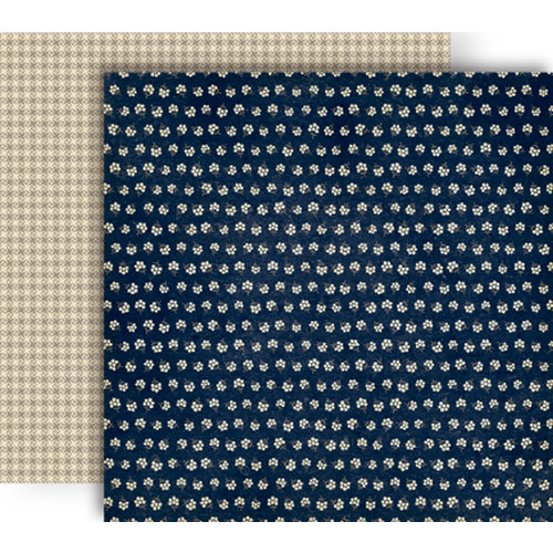 GCD Studios - Splendor Collection - 12 x 12 Double Sided Paper - Navy Flora