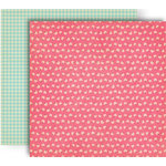 GCD Studios - Splendor Collection - 12 x 12 Double Sided Paper - Pink Flora