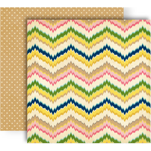 GCD Studios - Splendor Collection - 12 x 12 Double Sided Paper - Zig Zag
