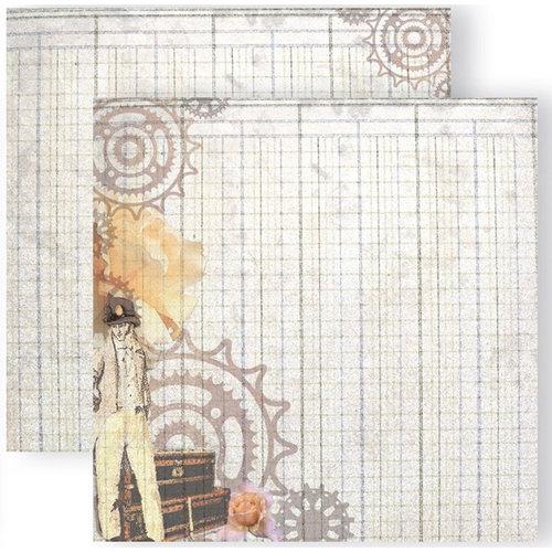 GCD Studios - Donna Salazar - Antiquities Collection - 12 x 12 Double Sided Paper - Steampunk Gentleman