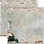 GCD Studios - Donna Salazar - Antiquities Collection - 12 x 12 Double Sided Paper - Tales of Travel